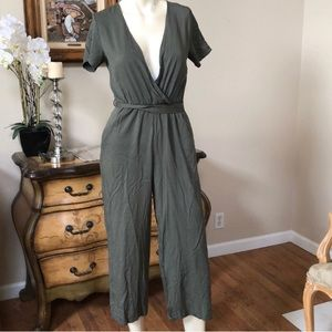 BNWT LF One Way olive green jumpsuit size XS